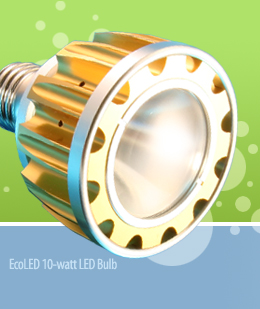 The EcoLED 10-watt LED Bulb